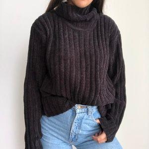 NWTV Vintage oversized chenille black sweater